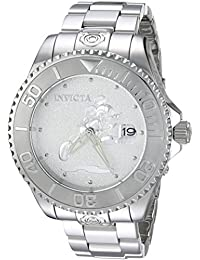 Mens Disney Limited Edition Automatic Stainless Steel Casual Watch, Color Silver-Toned