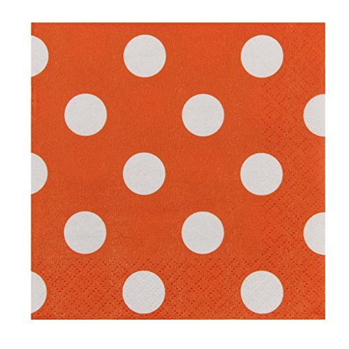 JAM Paper Small Polka Dot Beverage Napkins - 5