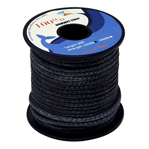 emma kites 600lbs 100 feet 1.3mm 100% UHMWPE Braided Polyethylene Cord Spool - Heavy Duty Low Stretch - Outdoor Utility Cord Kitesurfing String Boating Fishing Speargun Shooting Line by emma kites (Image #1)