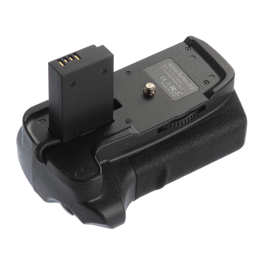 Fotga Pro Vertical Multi Power Battery Pack Grip Holder for Canon EOS 200D Rebel SL2 DSLR Camera Replacement for BG-1Y