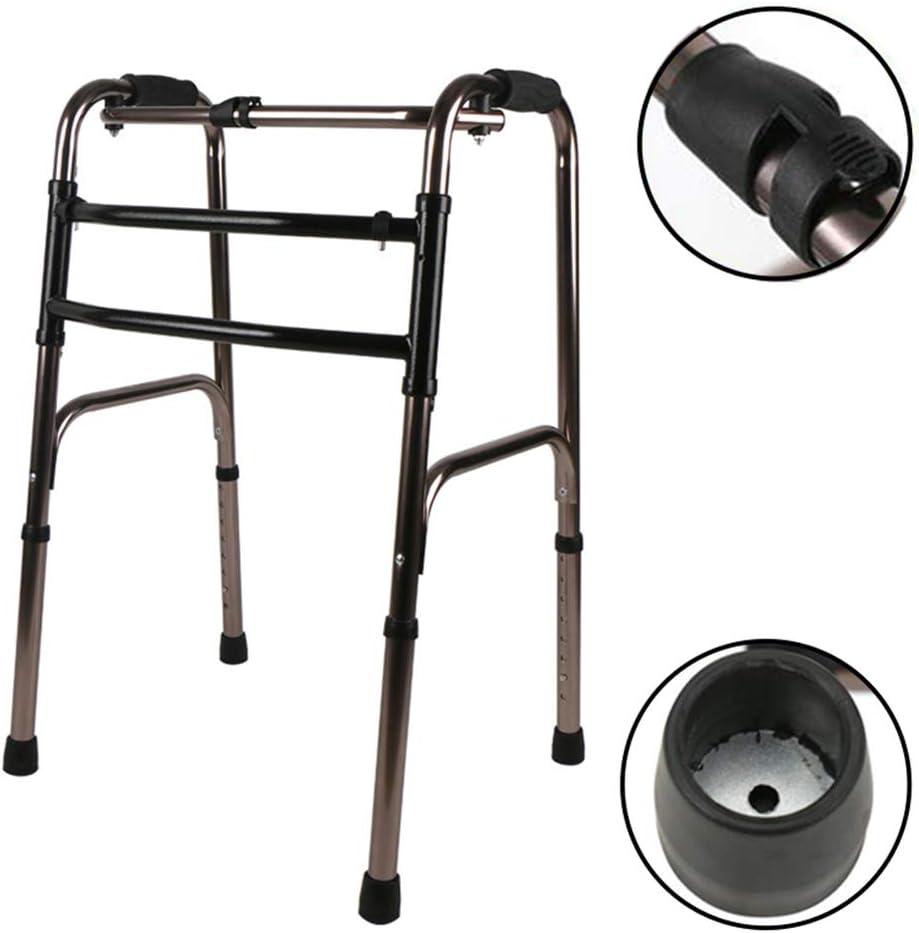 折りたたみ式軽量アルミニウム歩行フレーム車輪なし軽量アルミニウム調節可能な高さ(78-96Cm)高齢者用、障害者用