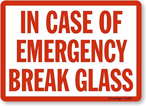 Iliogine Aluminum Sign In Case of Emergency Break Glass Plaque for Yard Garage Driveway House Fence 14 x 10