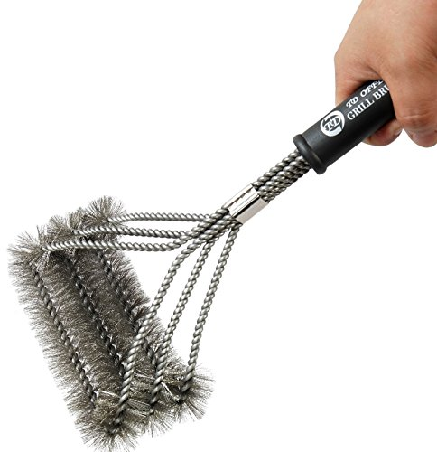 "BBQ Grill Brush By TD OFFER 2016 Design Best Grill Brush Cleaner Tools 17""-3 Stainless Steel Brushes In 1,Perfect BBQ Accessories for Weber Barbecue"
