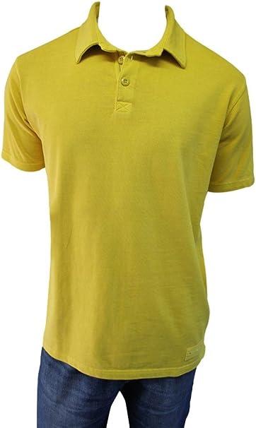 mousq ueton – Polo para Hombre Color Amarillo Ocre Verde XX ...