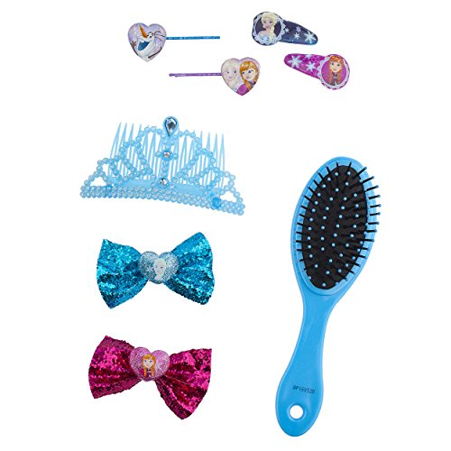 [Disney Frozen Hair Accessories Set with Hairclips, Bobby Pins, Haircomb, Mirror, Bows, 8 Pieces] (Diy Cute Costumes For Teenagers)