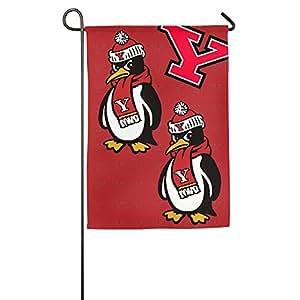 lyfh-gn Youngstown State pingüinos 1Logo bandera de Jardín