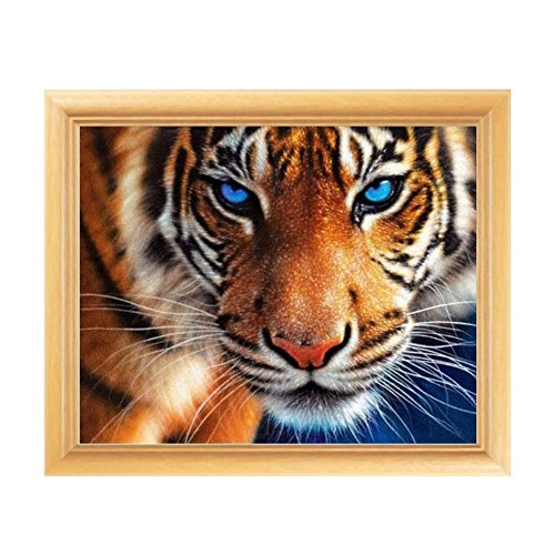 Adarl 5D DIY Diamond Painting Rhinestone Pictures Of Crystals Embroidery Kits Arts, Crafts & Sewing Cross Stitch Tiger Cross Stitch Kit Tiger