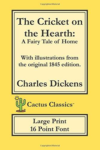 La crema de Cricket en la chimenea (Cactus Classics-16de impresión grande punto Font): Tipo de papel de, 15,2x...