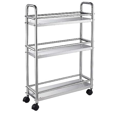 Amazon.com: Estante de almacenamiento para carro de cocina ...