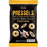 Pressels Baked Pretzel Chips – Non-GMO, Low-Calorie, Vegan, Kosher – Less Fat & Sodium Than Ordinary Chip – Thin, Crispy, Tasty Mini Pretzel Snack Bags by Dream Pretzels, Everything, 7.1 Oz, 3-Pack