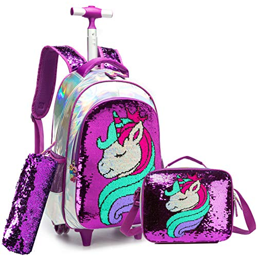 Meetbelify 3Pcs Rolling Backpack