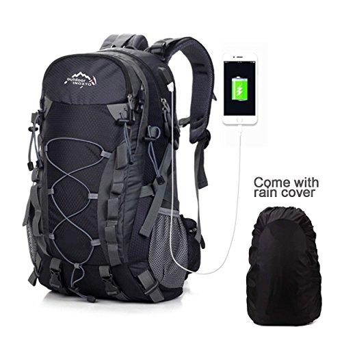Meisohua Wasserdichter Rucksack 45L Leicht, Erwachsene Wanderrucksack Manner Frauen Outdoorrucksack für Klettern Camping…