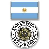2 x Argentina Luggage Travel Stickers