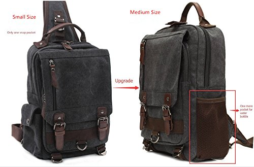 Body Black Small s Sling Bag Briefcase Men's Canvas Rucksack Leaper Shoulder Cross Messenger wAxqUYWFP