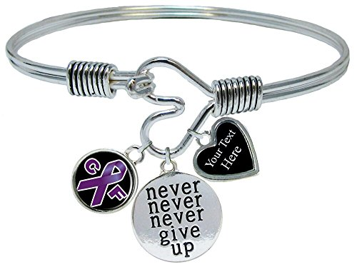 (Holly Road Cystic Fibrosis Awareness Never Give Up Bracelet Jewelry Choose Your)