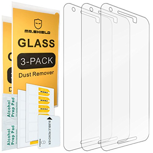 [3-Pack]- Mr.Shield for LG (Google) Nexus 5X 2015 Newest [Tempered Glass] Screen Protector [0.3mm Ultra Thin 9H Hardness 2.5D Round Edge] with Lifetime Replacement