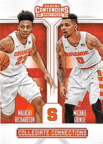 Malachi Richardson And Michael Gbinje Basketball Card Syracuse