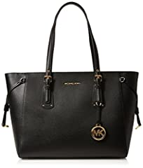 The chic diffusion line from the all-american lifestyle designer, michael Michael Kors is a one-stop shop for the most effortless and versatile pieces you could add to your arsenal. This leather Voyager tote from michael Michael Kors featurin...