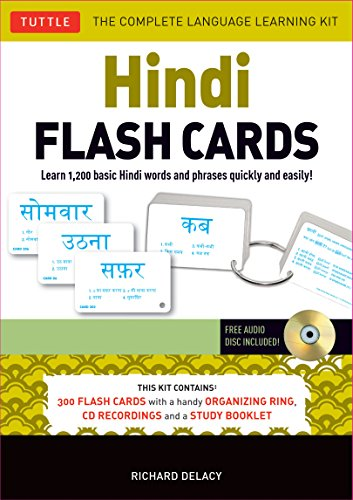 Hindi Flash Cards Kit: Learn 1,500 basic Hindi words and phrases quickly and easily! (Audio CD (Learn Alphabet Cd)