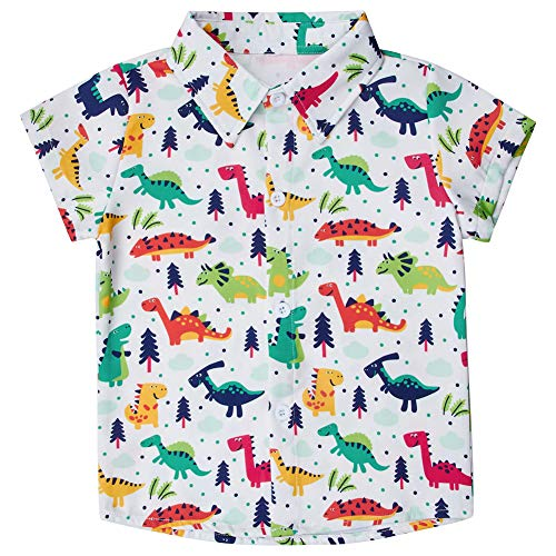 Girls Up Dress (5 Years Boys Girls Cute Dinosaur Graphic Shirts Summer Breathable Short Sleeve Summer Holiday Tops Novelty 3D Printed Daliy Clothing 5-6)