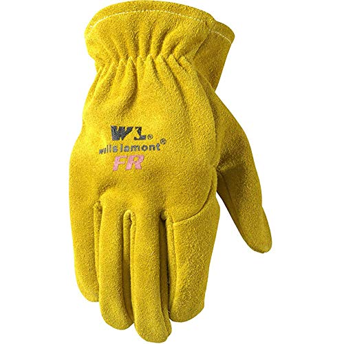 Wells Lamont Flame Resistant Leather Work Gloves, Split Cowhide, Large (1009L)