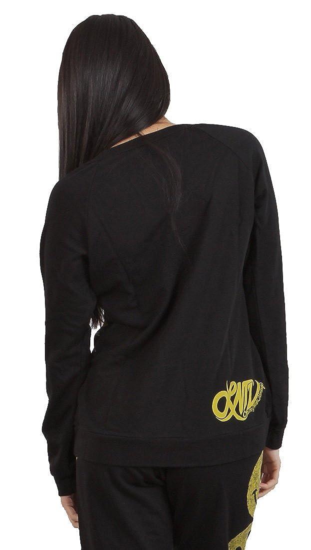 Lauren Moshi Hayden Smiley Happy Face Pullover Sweatshirt