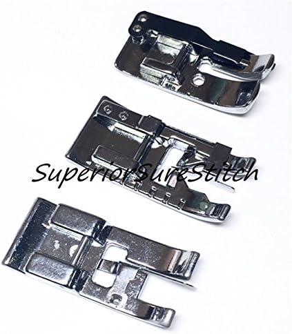 SuperiorSureStitch - Juego de pies de 3 piezas: prensatelas de ...