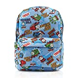 Finex Blue Thomas The Train & Friends Canvas Backpack with Laptop Storage Compartment for School College Daypack Causal Travel Bag