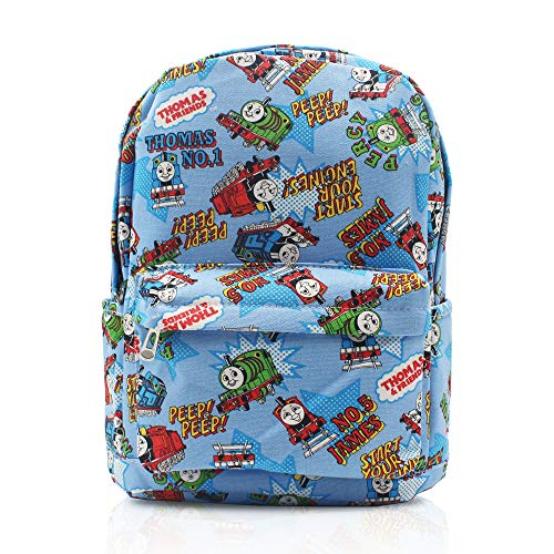 Finex Thomas The Train & Friends Blue Canvas Cute Cartoon Casual Backpack with 15 inch Laptop Storage Compartment Daypack Travel Snack Sport Bag Gift -