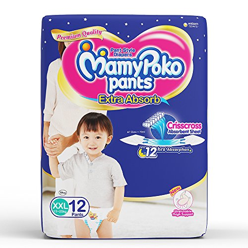 MamyPoko Pants Extra Absorb Diapers, XXL  Pack of 12
