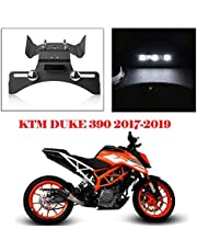 Duke390 Accesorios Tail Fender Eliminator Soporte de matrícula negro con luz LED for KTM Duke 390 390 Duke 2017 2018