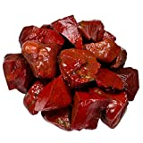 Hypnotic Gems Materials: 18 lb Bulk Rough Blood Red Jasper Stones from India - Raw Natural Crystals and Rocks for Cabbing, Lapidary, Tumbling, Polishing, Wire Wrapping, Wicca and Reiki
