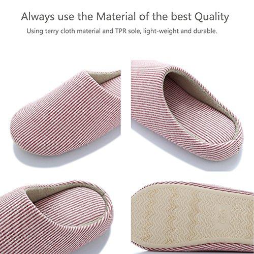 Halova Maison Pantoufles, Fermé Orteils Intérieur Maison Chambre Chaussures Chaussures Semelle Antidérapante Pour Les Femmes Filles Dames Beige