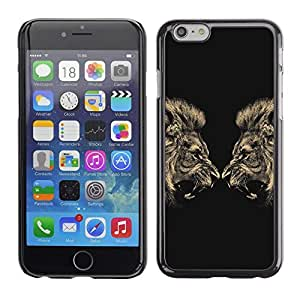Design for Girls Plastic Cover Case FOR Apple Iphone 6 Plus 5.5 Lion Angry Roar Fight Boxing Champion OBBA