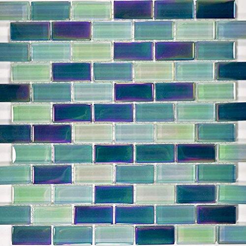 Sea Green Blend Glass Tile Blend 1