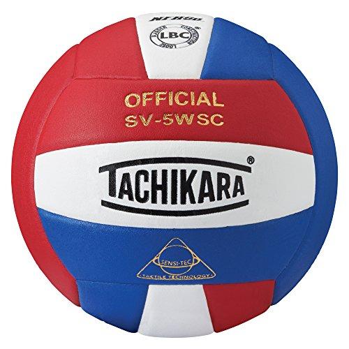 Tachikara Sensi-Tec Composite High Performance Volleyball (Scarlet/White/Royal)