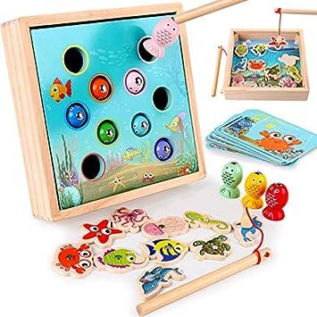 TOY Los Niños Juguetes De Madera, Juegos Magnéticos De Pesca del Juguete del Juego, Los Niños
