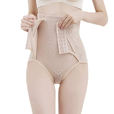 6f1e1f710 Women Body Shaper High Waist Panty Tummy Control Bodysuit Panty Slim Waist  Trainer Briefs (Beige