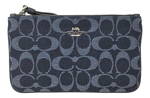 - Coach Denim Signature Jacquard Large Wristlet Denim F67587