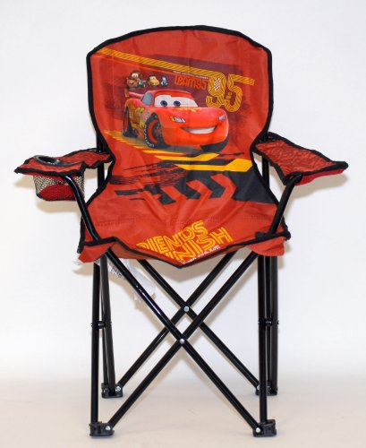 Disney Cars 2 Youth Folding Chair by Disney Cars 2 Youth Folding Chair with Cup Holder