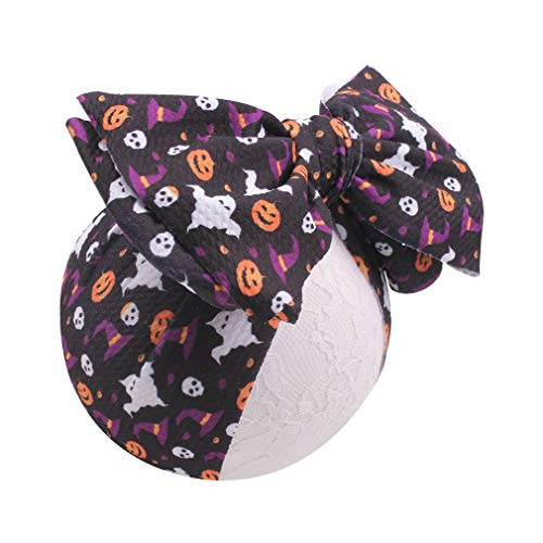 YanJie Baby Large Bows Headwrap Stretch Print Textured Fabric Top Knot Turban Headband Hair Accessories -