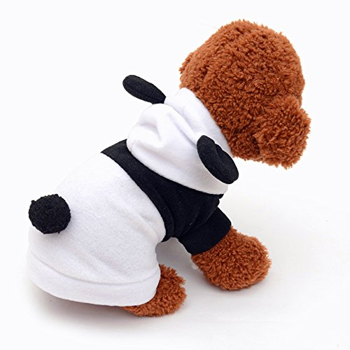 Halloween Costumes For Your Kids Ellen (Pet Dog Clothes Cute Panda Boys&Girls Autumn&Winter Warm Fleece Coat 2 Legs Apparel Round Neck Pet Clothes For Small Dogs Cats Costume Doggy Hoddy With Cute Ear Black and White (S))
