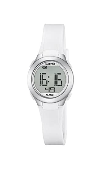 Calypso K5677/1 - Reloj de Pulsera Unisex, Plástico, Color Blanco: Amazon.es: Relojes
