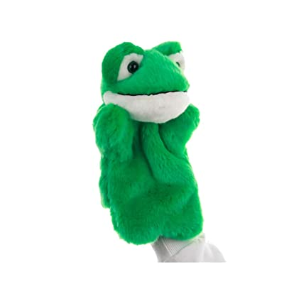 NUOBESTY Frog Hand Puppets Toys Plush Stuffed Animal Animal Role Play Doll Toy Soft Storytelling Supplies Party Favors Kids Gift Green: Toys & Games