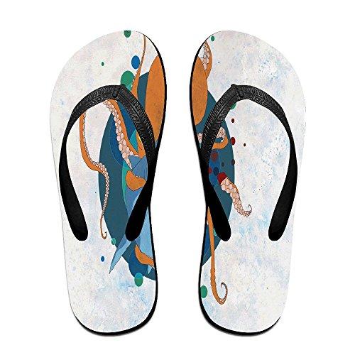 FPDragon Octopus And Shark Unisex Soft Flip-flops Beach Sandals Slippers Classical Thong Sandals xWhECN6f