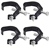 Stage Light Clamp 4 Pack SooFoo C-Clamp for DJ/Lighting Use Adjustable & Aluminum Alloy & Heavy-duty Clamp for Moving Light, Party Light, Disco Ball Light, with 2 Inch Quick Lock Release, Max Load 220