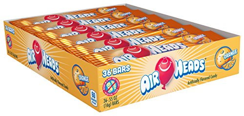 Airheads Bars, Orange, Stocking Stuffer, Gift, Holiday, Christmas,  0.55 Ounce (Pack of -