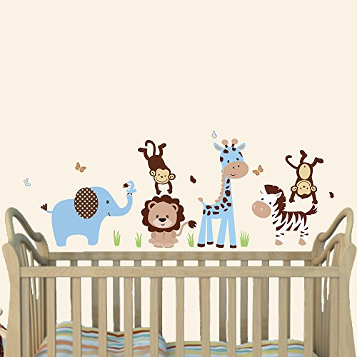 blue and brown wall decals - 3