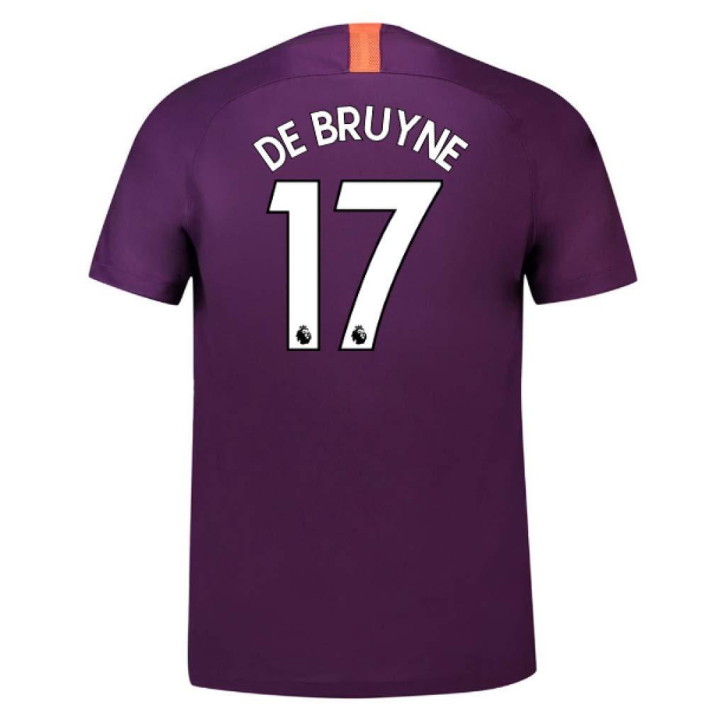 2018-2019 Man City Third Nike Football Soccer T-Shirt Trikot (Kevin De Bruyne 17)