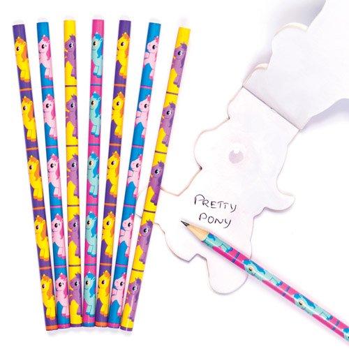 かわいい ポニー鉛筆(8本入り)ひなまつりパーティやゲームの景品 ちょっとしたプレゼントに B072NY9GWD